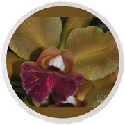 Orchid 85 Round Beach Towel