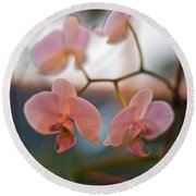 Orchid Gathering Round Beach Towel