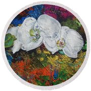 Orchid Mini Round Beach Towel