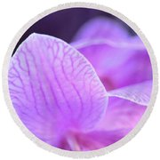 Orchid Pink Round Beach Towel