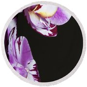 Orchid Stem Round Beach Towel