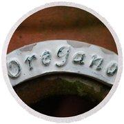 Oregano Round Beach Towel