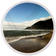 Oregon Beach Round Beach Towel