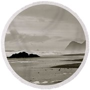 Oregon Coast Round Beach Towel
