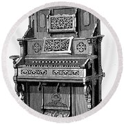 Organ, 19th Century Round Beach Towel