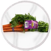 Organic Carrots Round Beach Towel