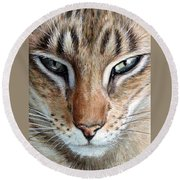 Oriental Cat Round Beach Towel