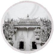 Ornate Architecture Round Beach Towel