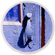 Ornate Door Handle Round Beach Towel