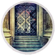 Ornate Entrance Gate Round Beach Towel