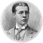 O.s. Campbell, 1891 Round Beach Towel
