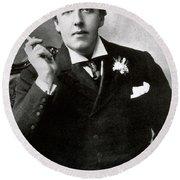 Oscar Wilde, Irish Author Round Beach Towel by Photo Researchers