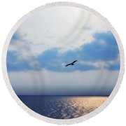 Osprey On The Potomac River Round Beach Towel