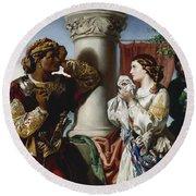Othello And Desdemona Round Beach Towel