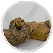 Otter Love This Round Beach Towel