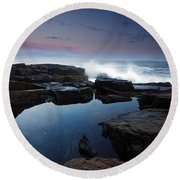 Otter Point Reflections II Round Beach Towel