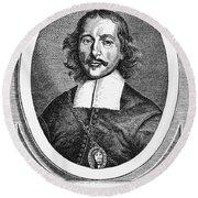 Otto Von Guericke (1602-1686) Round Beach Towel