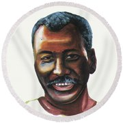 Oumar Souleymane Cisse Round Beach Towel