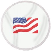 Our Flag Round Beach Towel