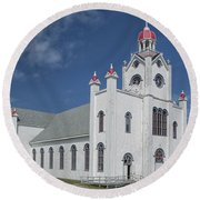 Our Lady Of Mercy Round Beach Towel