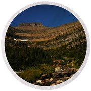 Our Mountains Round Beach Towel