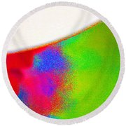 Our Words Have Color And Energy Round Beach Towel