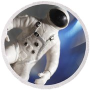 Out In Space Round Beach Towel by Greg Kopriva