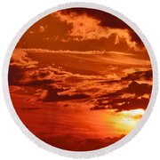 Out My Door Round Beach Towel