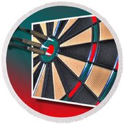 Out Of Bounds Bullseye Round Beach Towel