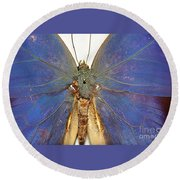 Out Of The Blue.. Round Beach Towel