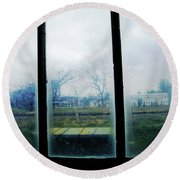 Out The Back Window Of The Delta Blues Museum Clarksdale Ms Round Beach Towel
