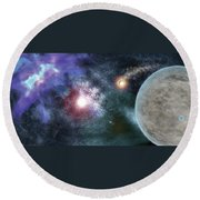 Out There Round Beach Towel