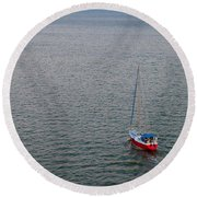 Out To Sea Round Beach Towel by Chad Dutson