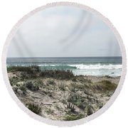 Out To The Water Round Beach Towel