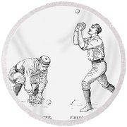 Outfielder, 1889 Round Beach Towel