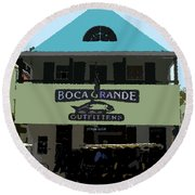 Outfitters Boca Grande Style Round Beach Towel