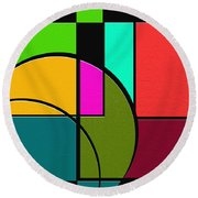 Outs Round Beach Towel by Ely Arsha