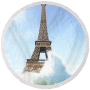 Outside The Ark Round Beach Towel