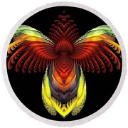 Outstreched Wings Round Beach Towel