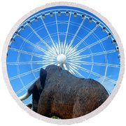Over Mammoth Proportion  Round Beach Towel