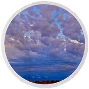 Over The Palisades Range Round Beach Towel