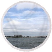 Over The Pass Round Beach Towel