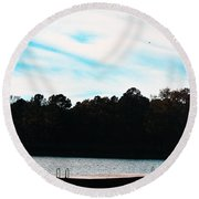 Over Water Round Beach Towel