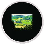 Over Yonder Round Beach Towel