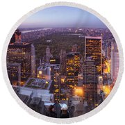 Overlooking Central Park Round Beach Towel