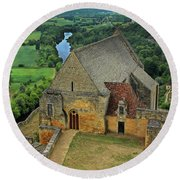 Overlooking The French Countryside Round Beach Towel