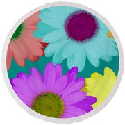 Oversize Daisies Two Round Beach Towel