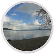Owen Beach Round Beach Towel