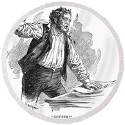 Owen Lovejoy (1811-1864) Round Beach Towel