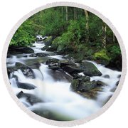 Owengarriff River, Killarney National Round Beach Towel